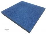 Резиновая плитка Синийдля тира