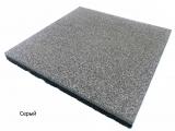 Резиновая плитка Серыйдля тира